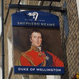 Duke of Wellington, Belgravia - sign