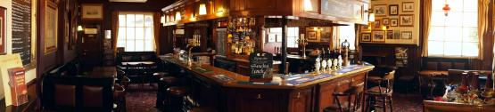 Panoramic Shot of the bar at the Duke of Wellington Belgravia